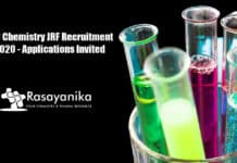 SNU Chemistry JRF Recruitment 2020 - Applications Invited