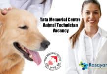 Tata Memorial Centre Animal Technician Vacancy - Applications Invited