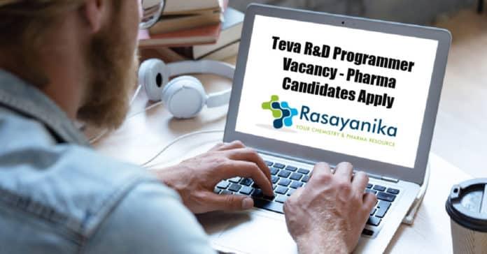 Teva R&D Programmer Vacancy - Pharma Candidates Apply