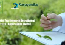 Tocklai Tea Research Recruitment 2020 - Applications Invited