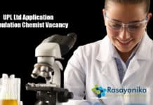 UPL Ltd Application Formulation Chemist Vacancy - Apply