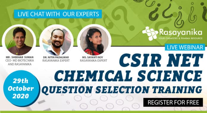 CSIR Chemical Science Question
