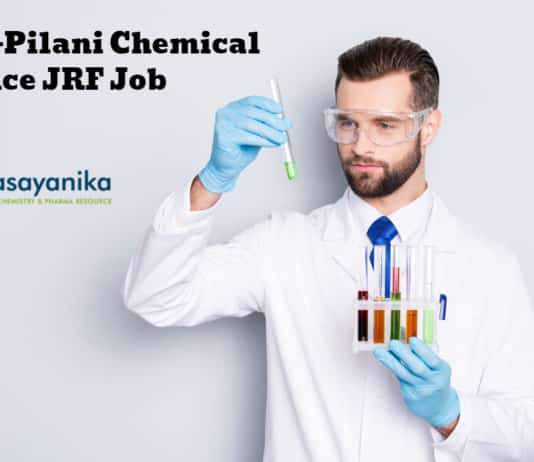 BITS-Pilani Chemical Science JRF Job - Applications Invited