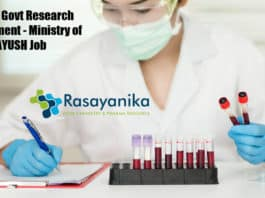 CCRAS Govt Research Recruitment - Ministry of AYUSH Job