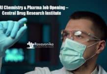 CDRI Chemistry & Pharma Job Opening – Central Drug Research Institute