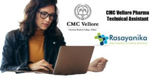 CMC Vellore Technical Assistant Recruitment 2020 – Pharma Jobs