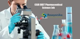 CSIR IHBT Pharmaceutical Science Job - Applications Invited