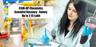 CSIR-IIP Chemistry Scientist Vacancy - Salary Up to 2.15 Lakh