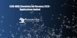 CSIR-NBRI Chemistry Job Vacancy 2020 - Applications Invited