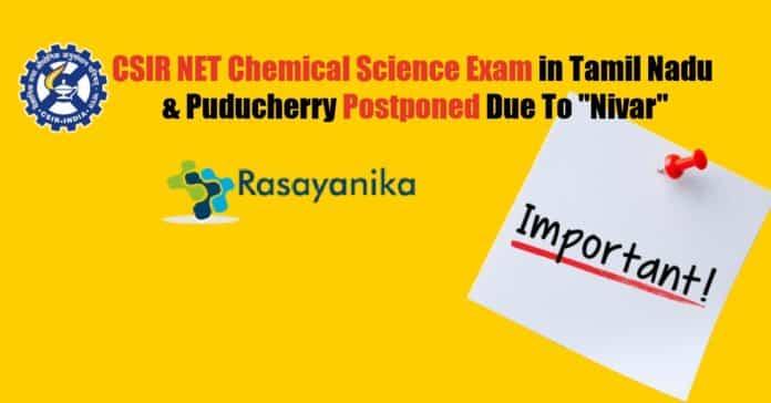 CSIR NET Chemical Science