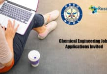 DRDO-NPOL Chemical Engineering Job - Applications Invited