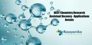 IIEST Chemistry Research Assistant Vacancy - Applications Details