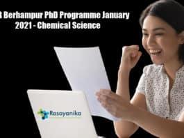 IISER Berhampur PhD Programme January 2021 - Chemical Science