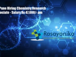 IISER Pune Hiring Chemistry Research Associate - Salary Rs 47,000/- pm