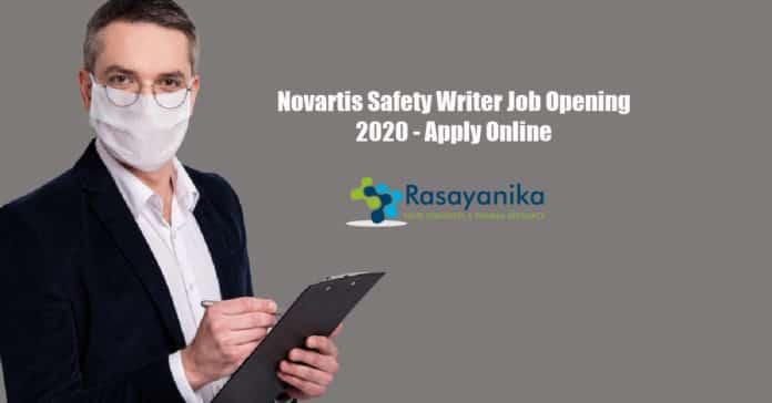 Novartis Safety Writer Job Opening 2020 - Apply Online