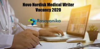 Novo Nordisk Medical Writer Vacancy 2020 - Apply Online