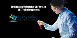 South Asian University - JRF Post in DBT-Twinning project