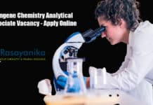 Syngene Chemistry Analytical Associate Vacancy - Apply Online