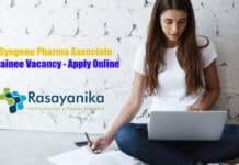 Syngene Pharma Associate Trainee Vacancy - Apply Online