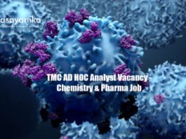 TMC AD HOC Analyst Vacancy - Chemistry & Pharma Job