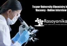 Tezpur University Chemistry Job Vacancy - Online Interview