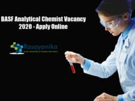 BASF Analytical Chemist Vacancy 2020 - Apply Online
