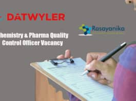 Datwyler Quality Control Officer Vacancy - Apply Online
