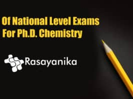 PhD Chemistry National Exams
