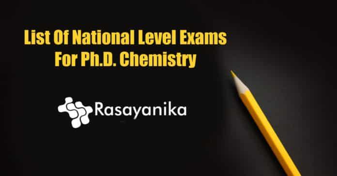 PhD Chemistry National Exams