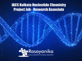 IACS Kolkata Nucleotide Chemistry Project Job - Research Associate