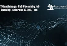 IIT Gandhinagar PhD Chemistry Job Opening - Application Details