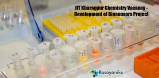 IIT Kharagpur Chemistry Vacancy - Development of Biosensors Project