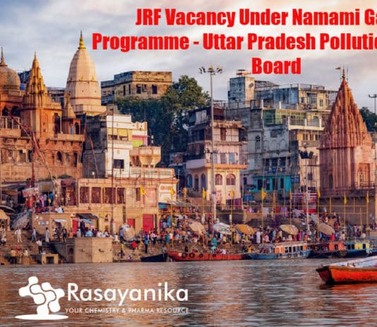 JRF Vacancy Under Namami Gange Programme - Uttar Pradesh Pollution Control Board