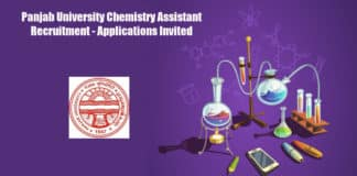 Panjab University Chemistry Assistant Recruitment - Applications Invited