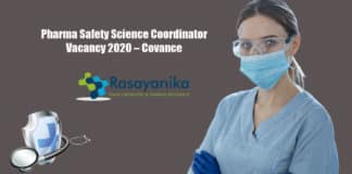 Pharma Safety Science Coordinator Vacancy 2020 – Covance