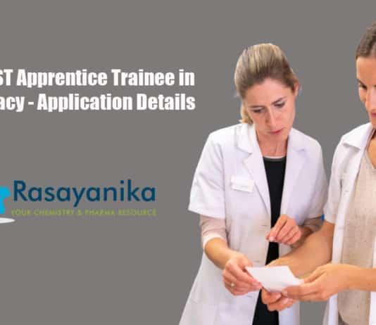 SCTIMST Apprentice Trainee in Pharmacy - Application Details