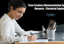 Teva Freshers Documentation Specialist Vacancy - Chemical Engineer