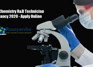 UPL Chemistry R&D Technician Vacancy 2020 - Apply Online