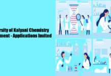 University of Kalyani Chemistry Recruitment - Applications Invited