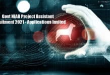 Govt NIAB Project Assistant Recruitment 2021 - Applications Invited