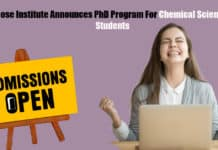Bose Institute Announces PhD Program For Chemical Science Students