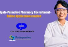 Colgate-Palmolive Pharmacy Recruitment