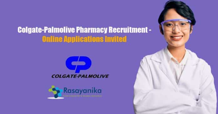 Colgate-Palmolive Pharmacy Recruitment