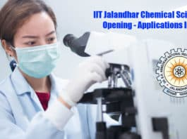 IIT Jalandhar Chemical Science Job Opening - Applications Invited