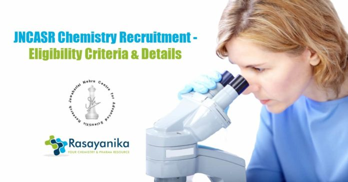 JNCASR Chemistry Recruitment