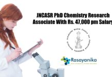 JNCASR PhD Chemistry Research
