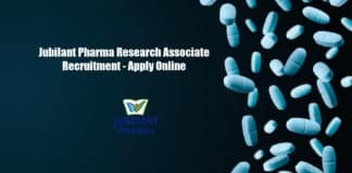 Jubilant Pharma Research Associate Recruitment - Apply Online