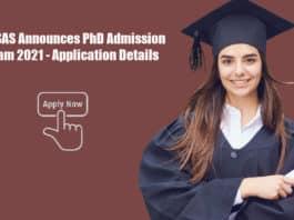 NIPER-SAS Announces PhD Admission Program 2021 - Application Details