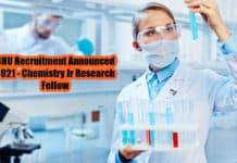 BHU Recruitment Announced 2021 - Chemistry Jr Research Fellow