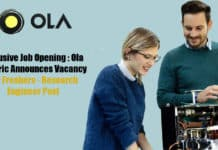 Exclusive Job Opening : Ola Electric Announces Vacancy For Freshers - Research Engineer Post